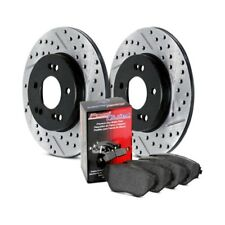 FRONT TOPBRAKES Performance Cross Drilled Slotted Brake Disc Rotors TB34428