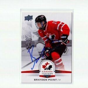 BRAYDEN POINT autographed '14 Upper Deck TEAM CANADA card TAMPA BAY LIGHTNING