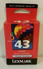 Genuine Lexmark 43 Ink Color Printer Cartridge High Yield 18Y0143 P350 Sealed