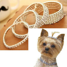 Luxury Necklace For Dog Cat Rhinestone Bling Collar Crystal Diamond Elasticity