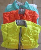 Tangerine 2 position zipper  Puffer Vest 3 colors Women's Sz S-XXL NWT MWRP$60