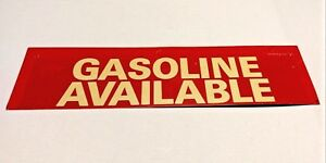 Rare Vtg Stout Industries Gasoline Gas Available Station Hours Metal Tin Sign