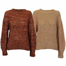 Ladies Cable Knitted Jumper Brave Soul Womens Sweater RIVER Crew Neck Winter New