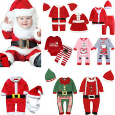 Kids Newborn Baby Boys Girls Christmas Xmas Party Santa Claus Costume Outfit Set