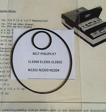 CINGHIE DI RICAMBIO BELTS REPLACEMENT FOR PHILIPS RECORDER EL3300/1/2 N2202/3/4