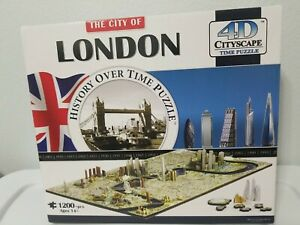 4D Cityscape Jigsaw Puzzle - London City Map With Time Layer Great Collectible