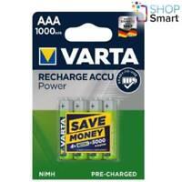 4 VARTA RECHARGE ACCU POWER AAA HR03 BATTERIES 1.2V 1000mAh NiMH MICRO NEW