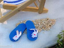 Maison de poupées tongs été plage accessoire adulte Sandales Miniature Chaussures Bleu
