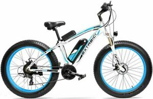 "26"" Blue Fat Tire Electric Snow Bike 48V 13A 500W XF650-BL"
