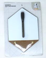 2 Magnetic Whiteboard Cork Board Combo & Marker Locker School Office Fridge New