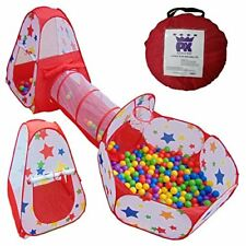 Ball Pit Kids Tent Pop up Playhouse with Crawl Tunnel | Toddler Toys with