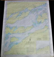 ST. LAWRENCE RIVER NAUTICAL  BOATING SURVEY MAP 1962 CAPE VINCENT GANANOQUE