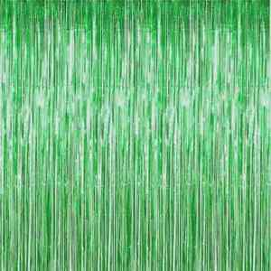 Foil Backdrop Tinsel Fringe Curtain. Party Decorations, Baby Shower Photo Props