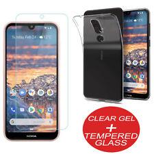 Per Nokia 2.2, 3.2, 4.2 Protettiva Clear Gel Custodia Cover con vetro temperato
