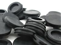 """10 Pack- Blank Hole Sealing Closed Rubber Grommets. Fits 1"""" Hole & 1/8"""" Groove"""