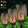 96 LED WATERPROOF TORCH SOLAR LIGHT PATIO GARDEN DANCING FLICKERING FLAME LAMP