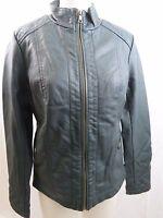 MO-KA Faux Leather Jacket Women's S M  Dark Teal M46767SN NWOT NEW