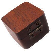 Wooden Guitar Pick Plectrum Storage Box Hold Case Care Tool Guitarra Picks N4B5