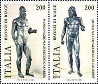 # ITALIA ITALY - 1981 - 200 Lire x 2 - Bronzi di Riace Art Statue - Stamps MNH