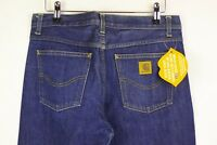 Mens CARHARTT Jeans WESTERN PANT STRAIGHT Fit Zip Fly W30 L34 EXCELLENT Blue P6