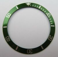 HQ REPLACEMENT GREEN BEZEL INSERT FOR ROLEX SUBMARINER 16610LV 50TH - UK STOCK