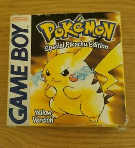 VGC Gameboy & Gameboy Colour Pokemon Yellow Version. Boxed. RM Special Delivery