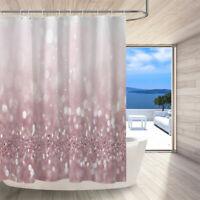 "Shower Curtain Bathroom Mat Waterproof Fabric Winter Forest Magic Ice Gate 72/"""