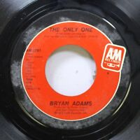 Rock 45 Bryan Adams - The Only One / It'S Only Love On A&M Records