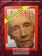 TIME magazine August 3 1970 Aug 9/3/70 Growing old in America