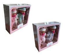 Little Baby Twins 2 Baby Dolls With Dummy Accessory Toy Playset