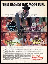 HAYLEY MILLS Disney movies__Original 1985 print AD promo__Pollyanna__Parent Trap