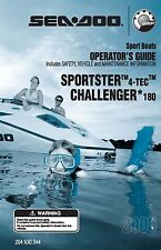 Sea-Doo Owners Manual Book 2006 SPORTSTER 4-TEC & CHALLENGER 180