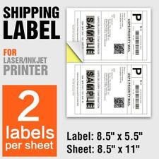 Shipping Labels Upsfedexusps 2 Labels Per Sheet 85x11 25100500 Labels