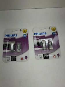 Philips 463448 7W Equivalent Soft White T5 Wedge Capsule 2 Pack Lot Of (2)