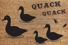 NUOVO 40x60cm DUCK BENVENUTI Porta Tappetino CASA HOME Heavy Duty QUACK QUACK Carpet Rug