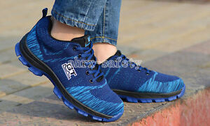 Men's Fashion Anti Puncture Safety Shoes Steel Toe Breathable Work Boots