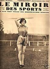 LE MIROIR DES SPORTS 1930 N 561 L. MICHARD, CYCLISME