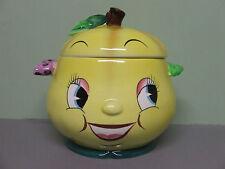 VHTF/Vintage PY Anthropomorphic Pear (Fruit) Face Cookie Jar