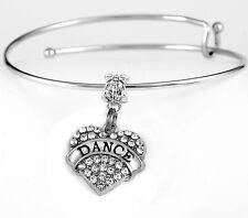 Dance Bracelet Ballet bracelet  Tap bracelet Jazz bracelet Crystal Heart gift