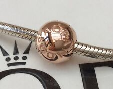 GENUINE PANDORA ROSE GOLD PANDORA SIGNATURE LOGO CLIP 781015