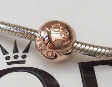 Genuine PANDORA ROSE ORO Pandora Firma Logo Clip 781015