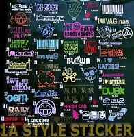 15 Sticker SET Aufkleber Auto Tuning shocker oem dub jdm vag dapper static