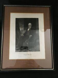 Johnson, Fry & Co. Publishers Engraved Print of Daniel Webster