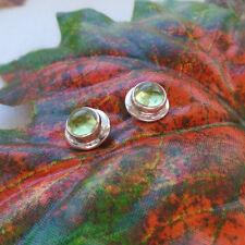 Peridot, grün, rund, schlicht, elegant Ohrringe, Ohrstecker, 925 Sterling Silber