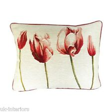 """14""""x19"""" Tulips French Woven Cotton Tapestry Cushion 40x50cm Tulip flower"""