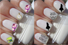 Alice au pays des Merveilles ongles manucure nail art water decal sticker