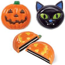 Wilton Candy Cookie Mold Pumpkin Cat 2 Design 6 Cavity Halloween Treats Oreo