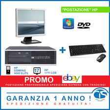 POSTAZIONE INFORMATICA HP PC COMPUTER FISSO DESKTOP LCD RICONDIZIONATO WINDOWS 7