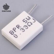 1pc Non-inductive Cement Resistor Resistance 0.33ohm DIY BPR56 5W 0.33R