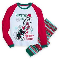 New Disney store Goofy Men pajama set Mickey Mouse Christmas Holiday